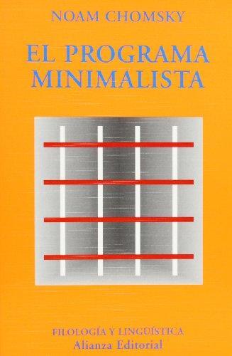 9788420679419: Programa Minimalista, El (El Libro Universitario. Ensayo) (Spanish Edition)