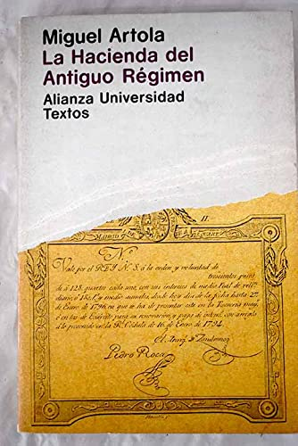 9788420680422: La hacienda del antiguo regimen (Alianza universidad. Textos)