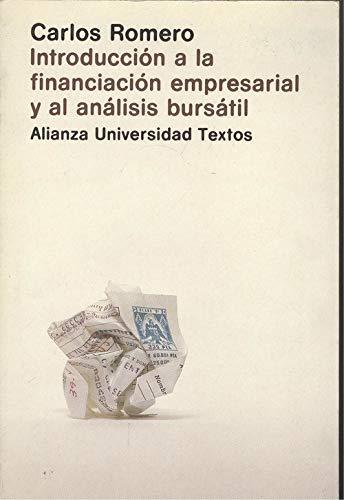 9788420680804: Introducción a la financiación empresarial y al análisis bursátil (Alianza universidad. Textos) (Spanish Edition)