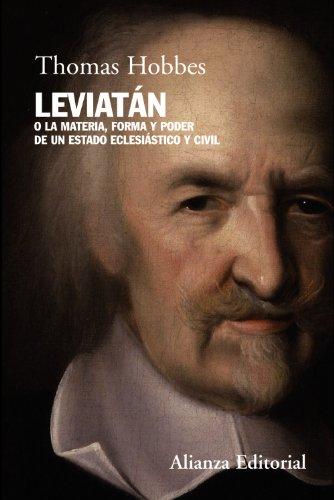 Leviatan. O la materia, forma y poder: Thomas Hobbes