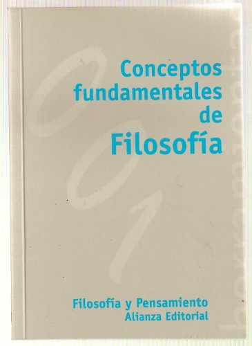 9788420686516: Conceptos fundamentales de filosofia