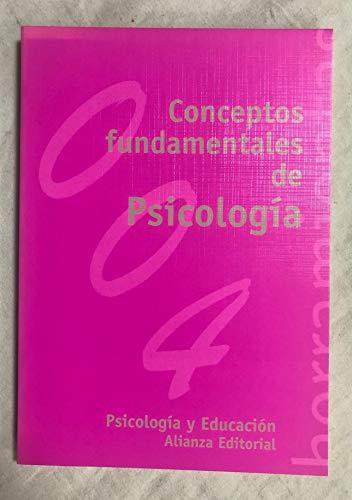 Conceptos Fundamentales de Psicologia (Spanish Edition): Juan Garcia Madruga;