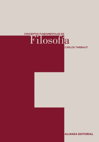 9788420687476: Conceptos fundamentales de Filosofia/ Fundamental Concepts of Philosophy (Spanish Edition)