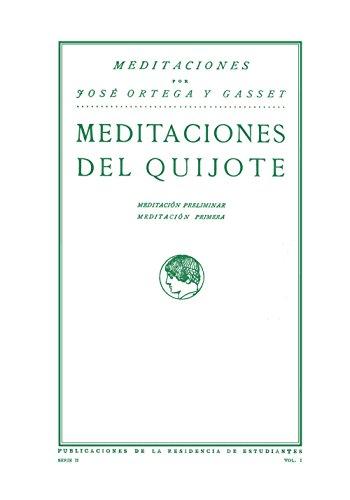 9788420689500: Meditaciones del Quijote
