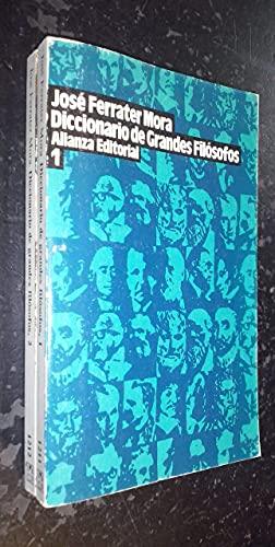 9788420698212: Diccionario de grandes filosofos2 tomos obra completa