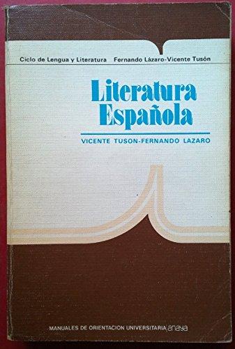 9788420714479: Literatura española, cou