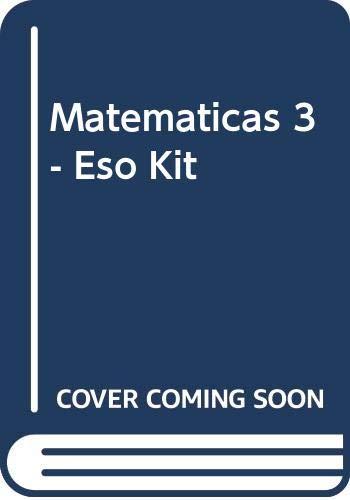 9788420764580: (2) Eso 3 Matematicas