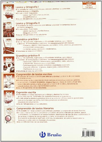9788421655108: Refuerzo Lengua ESO Comprension de textos escritos/ Strengthening Language (Spanish Edition)