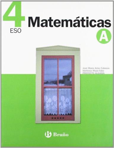 9788421659335: Matemáticas 4 A ESO
