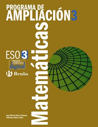 9788421670477: Programa de Ampliación de Matemáticas 3 ESO (ContextoDigital)