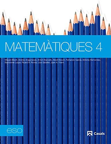 9788421848227: Matemàtiques 4 ESO (2012) - 9788421848227