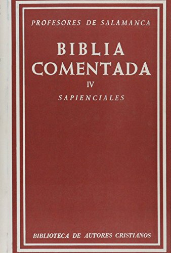 BIBLIA COMENTADA IV N 218: UNIVERSIDAD PONTIFICIA SALAMANCA