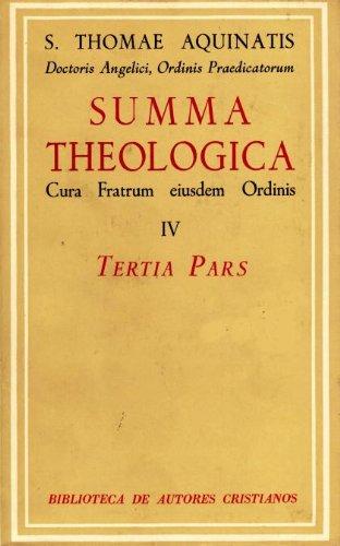 9788422002215: Summa Theologiae. IV: Tertia pars