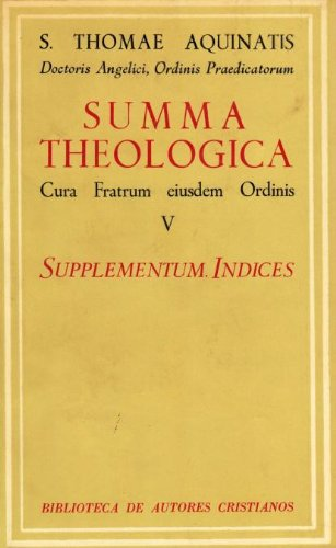 9788422002222: Summa Theologiae. V: Supplementum. -ndices