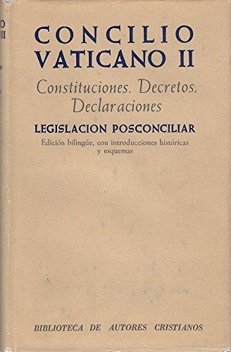 9788422002659: CONCILIO VATICANO II Constituciones, Decretos, Declaraciones, Legislación posconciliar