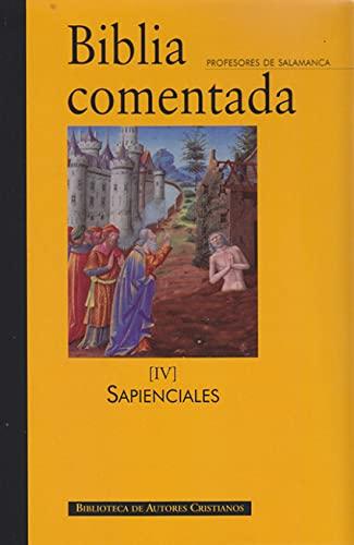 Biblia comentada IV.Libros sapienciales (Paperback)