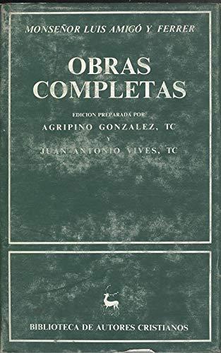 Obras completas: Luis Amigo Y