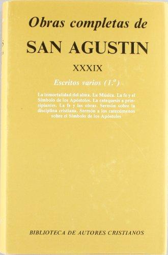 Obras completas de San Agustín .Tomo XXXIX: San Agustín