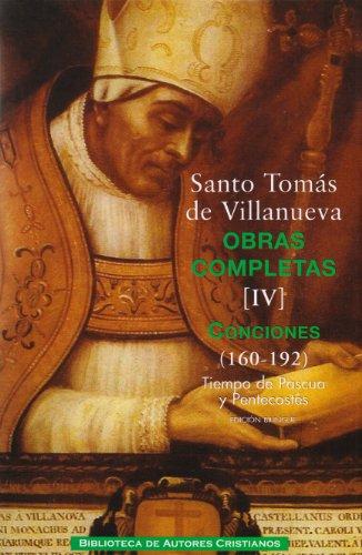 9788422015642: Obras completas de Santo Tomás de Villanueva: Santo Tomás De Villanueva - Obras Completas IV - Conciones (160-192): 4 (MAIOR)