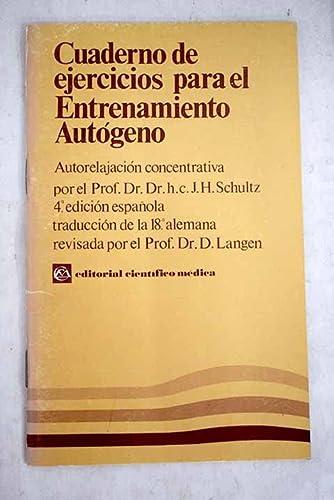 9788422408215: Cuadernos de ejercicios para el entrenamiento autogeno
