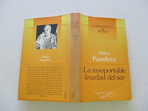 9788422621225: La Insoportable Levedad Del Ser