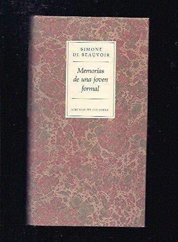 9788422645320: MEMORIAS DE UNA JOVEN FORMAL. Epílogo de Laura Freixas.