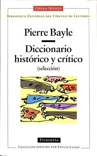 9788422654780: Diccionario historico y critico (sekeccuon)