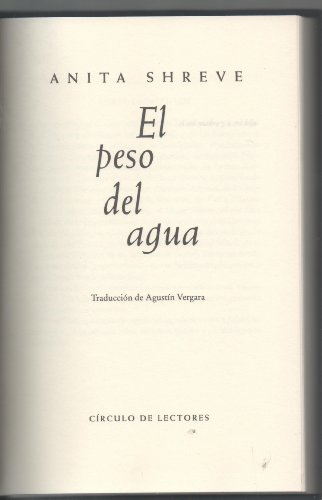 9788422692096: El Peso Del Agua