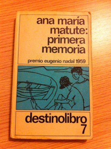 9788423307265: Primera Memoria: Primera Memoria (Destinolibro 7)
