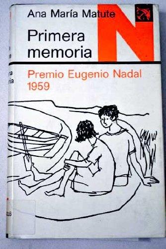 Primera memoria: Premio Nadal 1959: Anon