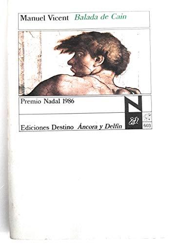 9788423315376: Balada de Cain (Coleccion Ancora y delfin) (Spanish Edition)