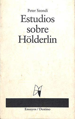 9788423321377: Estudios sobre hölderlin