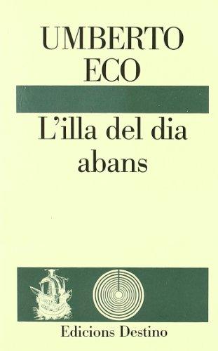9788423324859: L'ILLA DEL DIA ABANS.......L'ANCORA