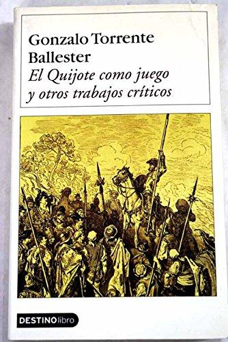 9788423335985: El Quijote como juego y otros trabajos