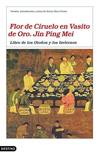FLOR DE CIRUELO EN VASITO DE ORO.: JIN PING MEI