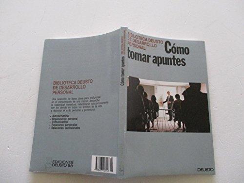 9788423407248: Como Tomar Apuntes (Spanish Edition)