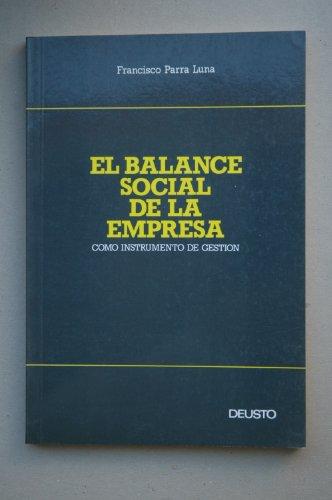 9788423407644: Balance social de la empresa, el