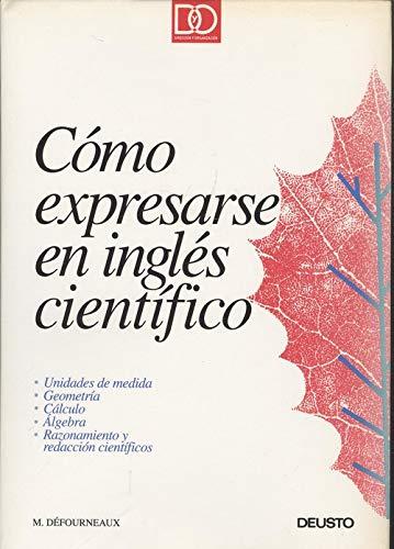 9788423411504: Como Expresarse En Ingles Cientifico (geometria,Calculo,Algebra...)