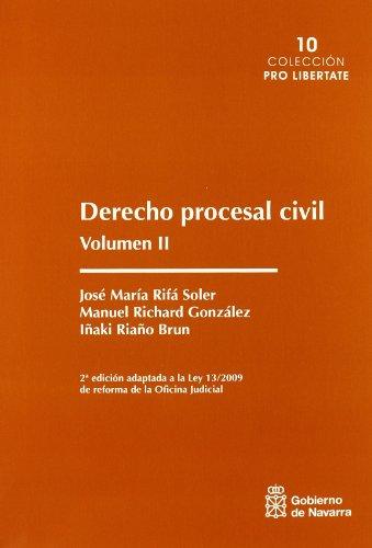 9788423532551: DERECHO PROCESAL CIVIL VOL. II (2ª ED.)