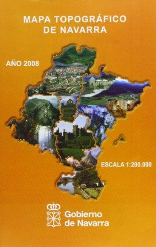 9788423533275: Mapa Topogrßfico De Navarra 1:850000