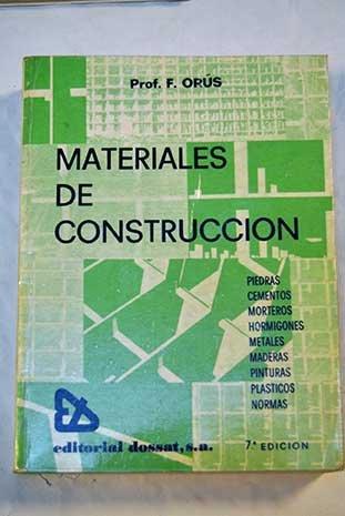 9788423704019: Materiales de construcción