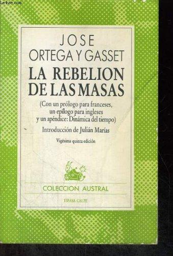 9788423900015: La Rebelion de Las Masas