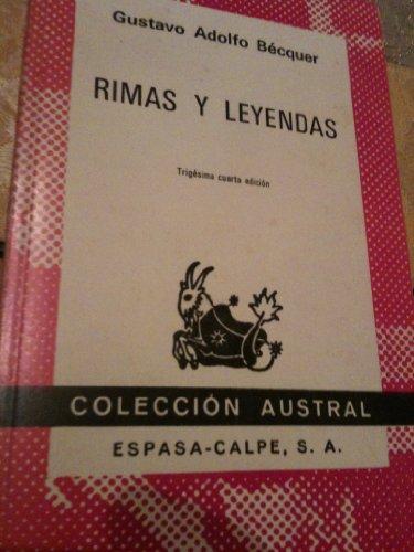 Rimas y leyendas. Carta-prólogo de Juan Valera.: Bécquer, Gustavo Adolfo