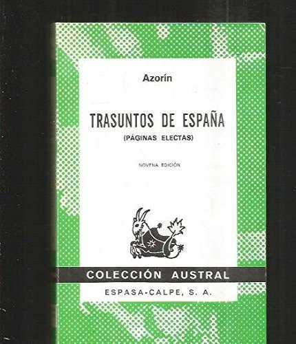 Trasuntos De Espana (Spanish Edition): Azorin