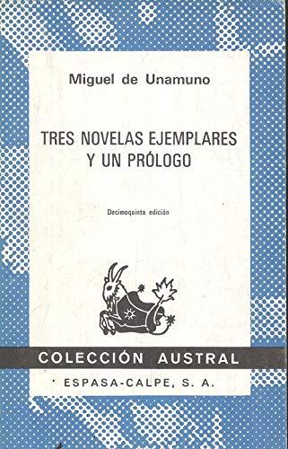 9788423900701: Tres novelas ejemplares y un prologo/Three Exemplary Novels and a Prologue