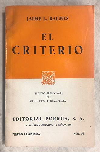 9788423900718: Criterio, el