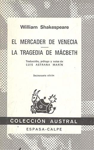 9788423901098: Mercader de venecia, el. la tragedia de macbeth