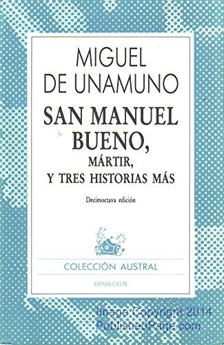 9788423902545: San Manuel Bueno, Martir, y Tres Histororias Mas