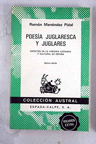 9788423903009: Poesia juglaresca y juglares
