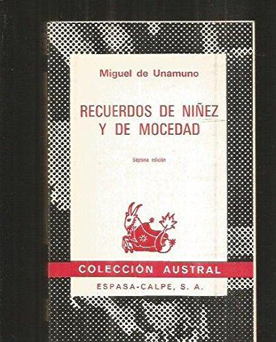 Stock image for Recuerdos de Niñez y de Mocedad for sale by Better World Books